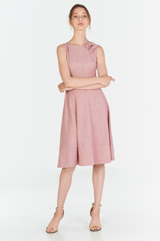 *W. By TCL* Tallia Ribbon Dress in Pink
