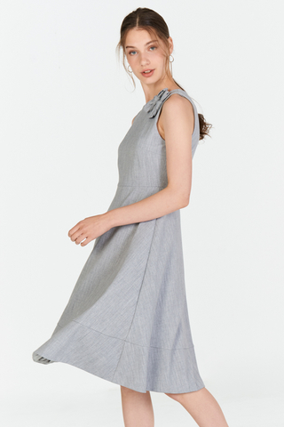 *W. By TCL* Tallia Ribbon Dress in Grey