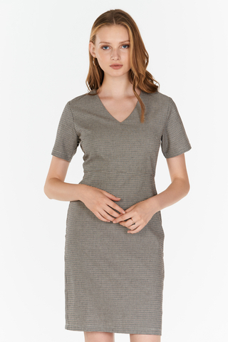 Jaylin Houndstooth Dress
