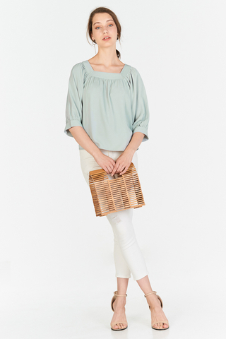 Carila Square Neck Top in Spring Mint