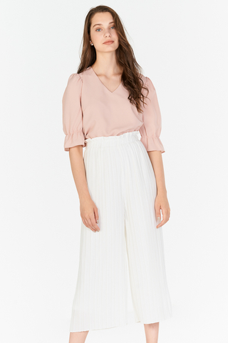 Miriam Pleated Culottes in White