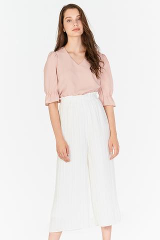 Miriam Pleated Culottes in White
