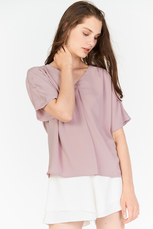 Rolaine Top in Pink