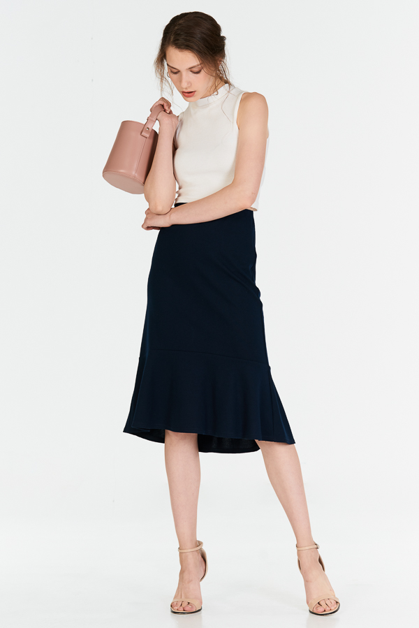 Socrates Dropwaist Skirt in Navy