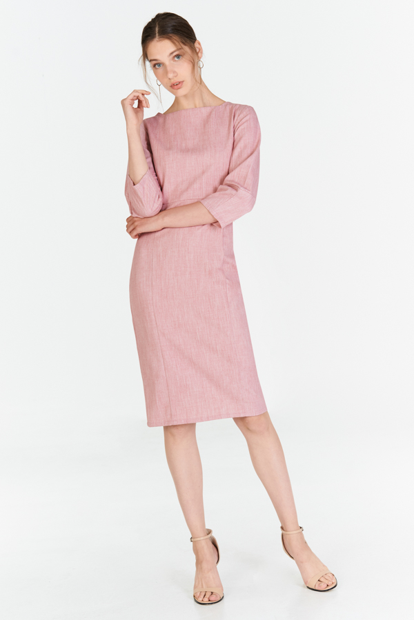 *W. By TCL* Jordis Sleeved Dress in Pink