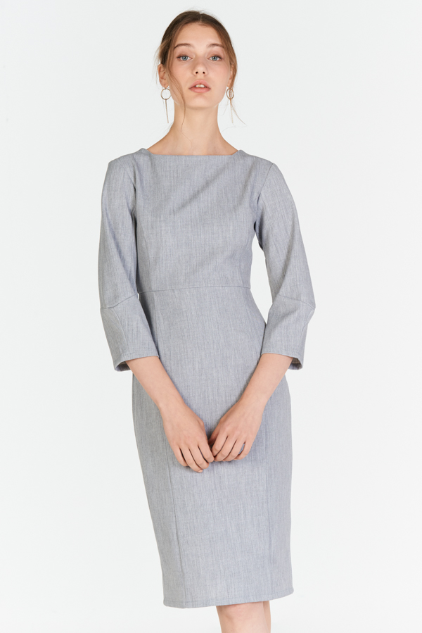 *W. By TCL* Jordis Sleeved Dress in Grey