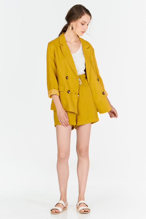 39502a0a37649 Home · Clothing · Outerwear · Blazers; Ellyse Blazer in Mustard. Hover your  mouse to view bigger image Double tap to zoom
