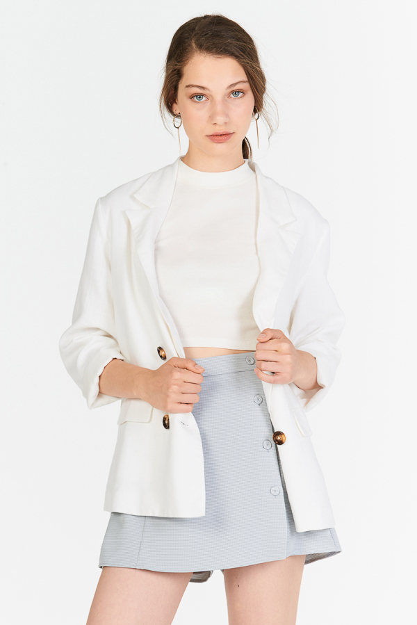 Ellyse Blazer in White