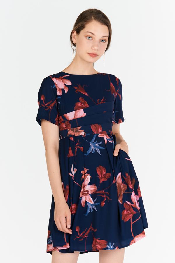 Elayna Floral Printed Sleeved Dress