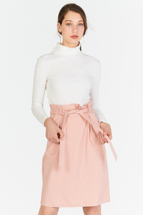 Ranise Paperbag Skirt in Pink