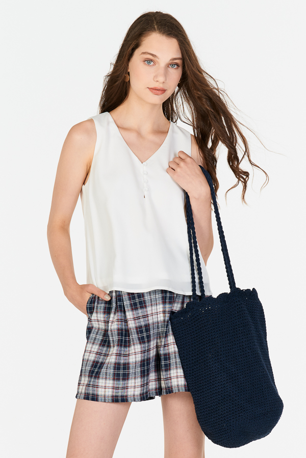 *Restock* Freda Knitted Bag in Navy