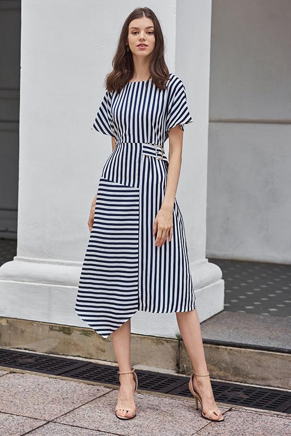 Loreen Stripes Midi Dress