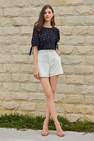 *Restock* Railey Dotted Sleeved Top