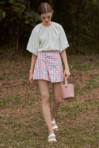 Portia Checkered Skorts in Pink