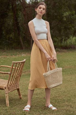 Arina Gingham Midi Skirt