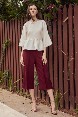 Elaina Culottes in Wine