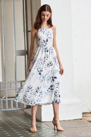Isabella Floral Printed Midi Dress