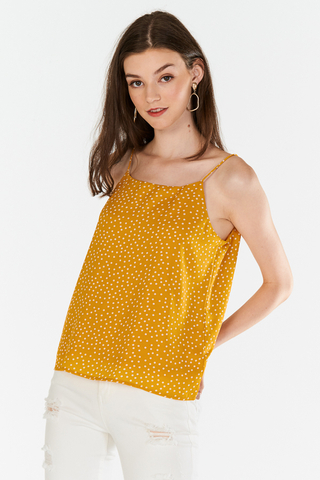 Merine Dotted Two Way Top in Marigold