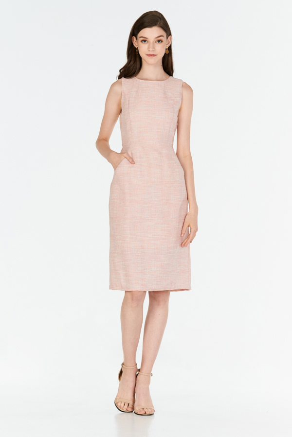*W. By TCL* Alyne Tweed Dress in Pink
