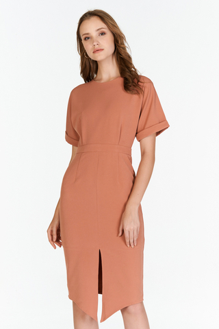 Chijmes Midi Dress in Sierra