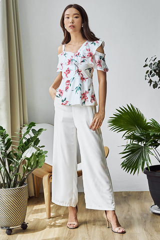 Cerina Floral Printed Peplum Top
