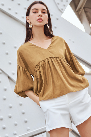 Talisha Top in Tan