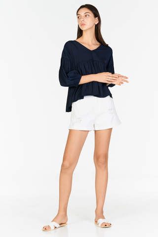 Talisha Top in Navy