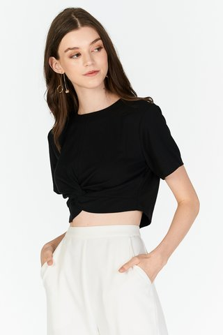 *Backorder* Malia Knotted Top in Black