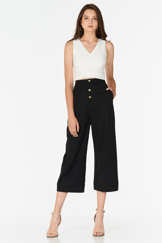 Charis Buttoned Pants in Black