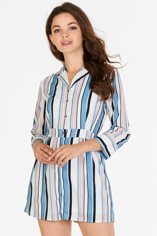 Gisele Stripes Romper