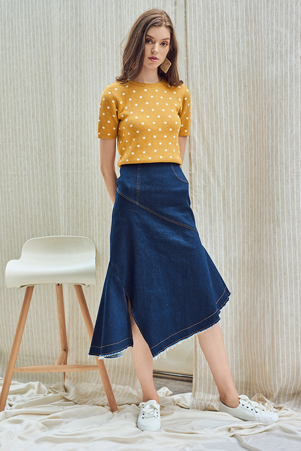Borise Denim Midi Skirt