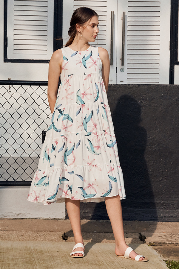 Averlyn Floral Printed Midi Dress