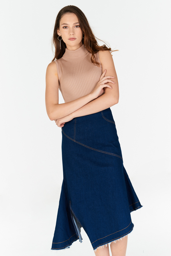 6bcc3eec53 ... Borise Denim Midi Skirt. Hover your mouse to view bigger image Double  tap to zoom