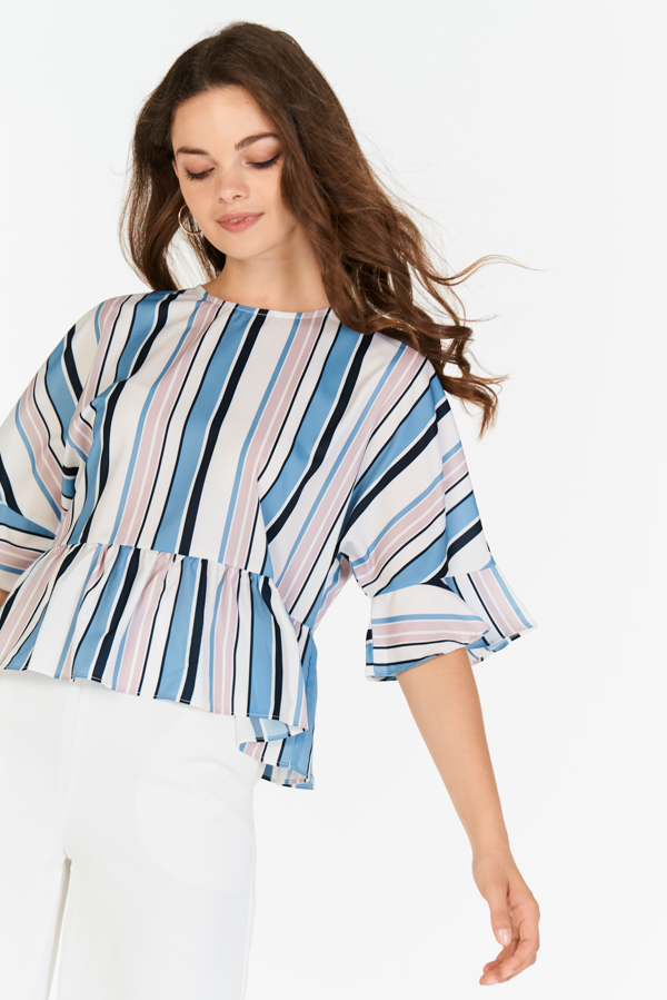Gisele Stripes Peplum Top