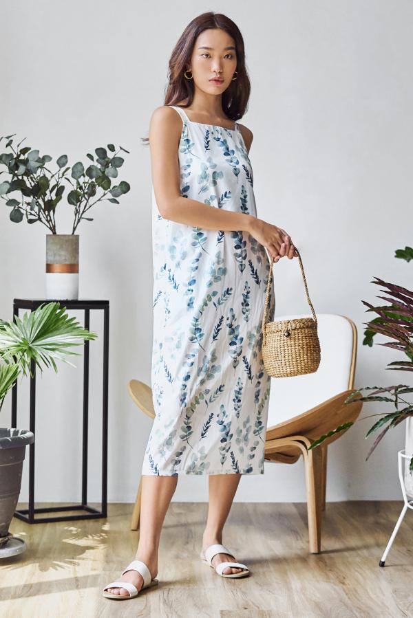 Keirra Botanical Two-Way Midi Dress