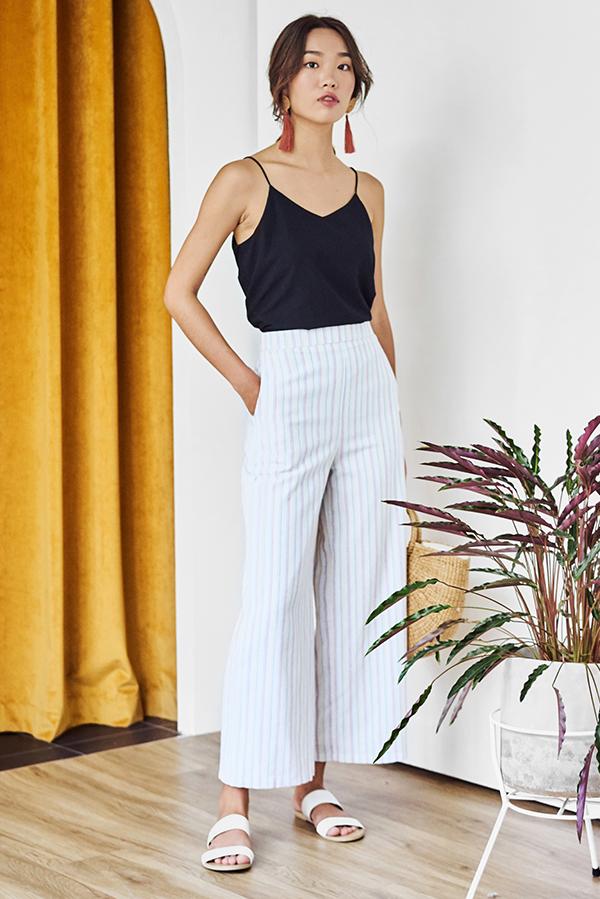 Elenn Linen Stripes Pants