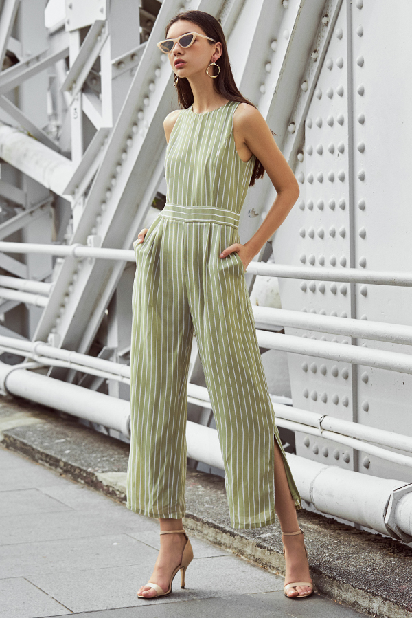 Shina Stripes Printed Jumpsuit