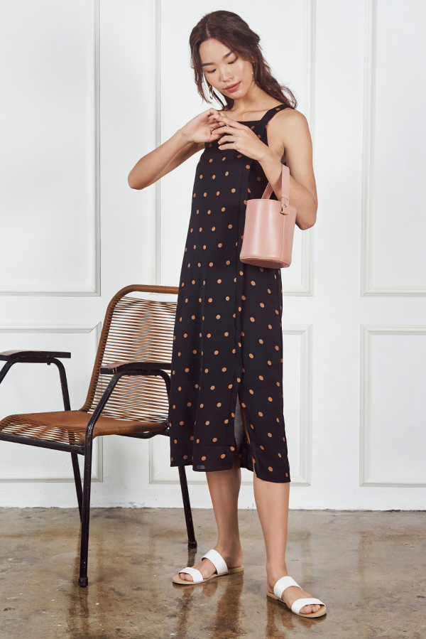 *Backorder 2* Aubree Polka Dotted Midi Dress