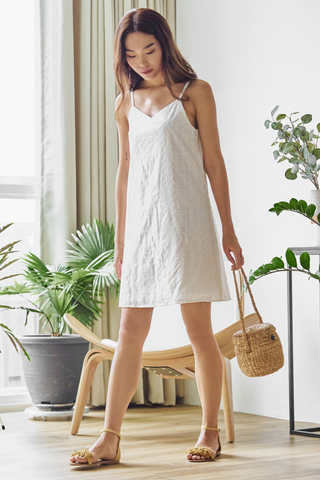 Derina Two Way Eyelet Slip Dress