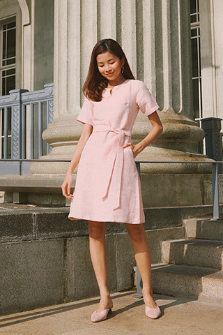 *W. By TCL* Sherrin Tweed Dress in Pink