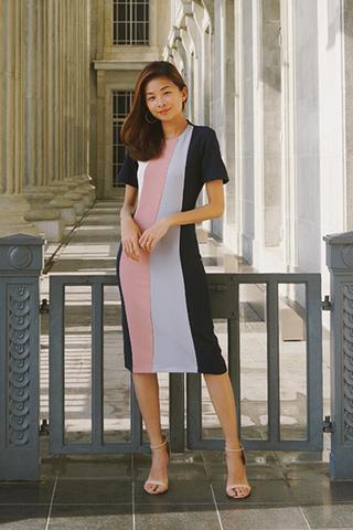 *W. By TCL* Ralone Tri-Colour Dress