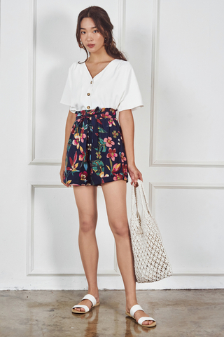 *Restock* Eunica Floral Paperbag Shorts
