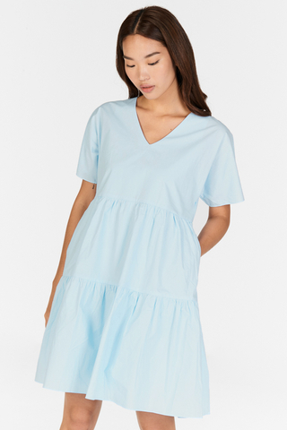 Lorise Dress in Powder Blue