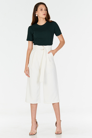 Milane Belted Culottes in White