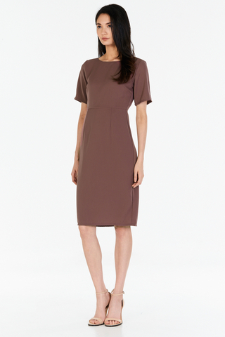 *W. By TCL* Suie Dress in Taupe