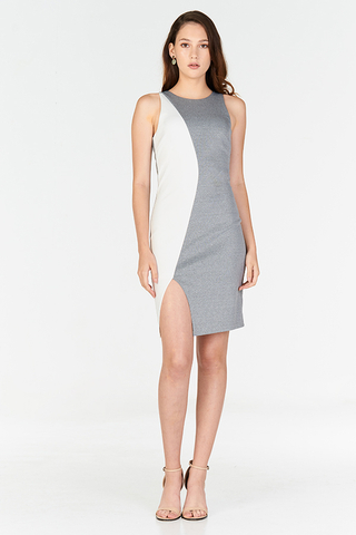 *W. By TCL* Rinase Colourblock Dress in Grey