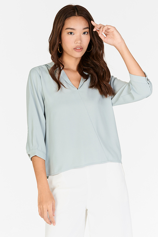 Lei Sleeved Top in Spring Mint