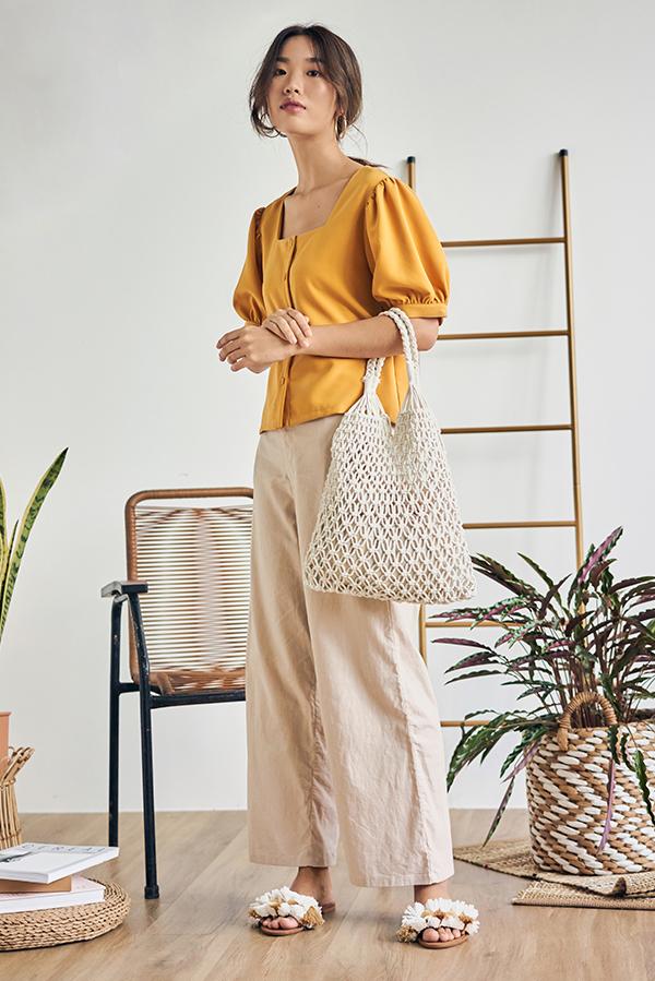 Ralina Linen Pants in Khaki