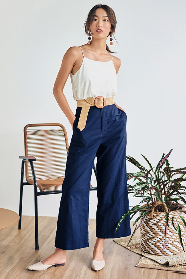 Ralina Linen Pants in Navy