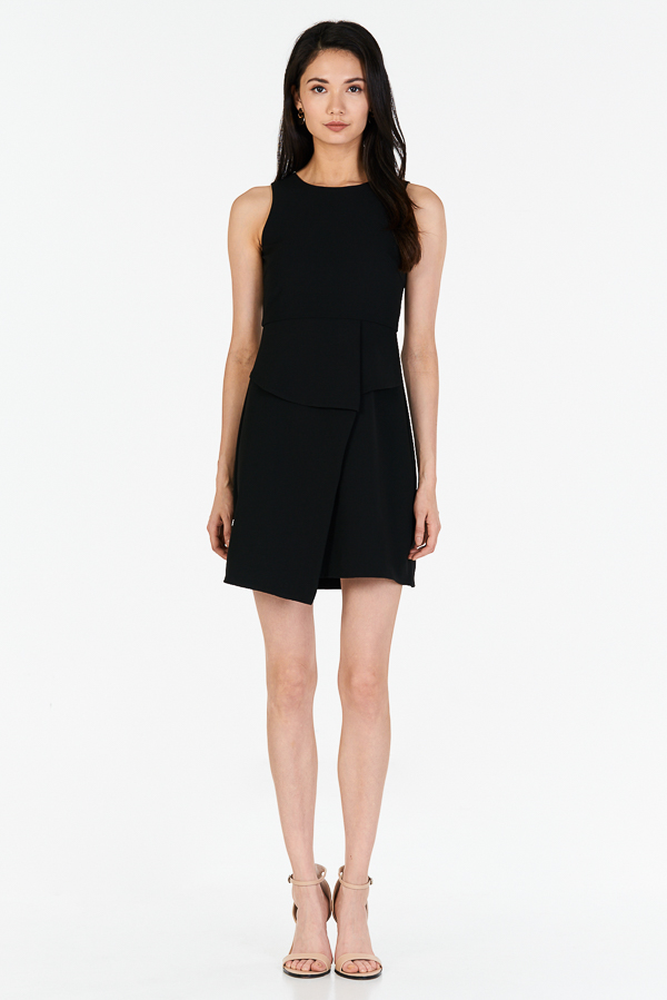 *W. By TCL* Kino Overlap Dress in Black